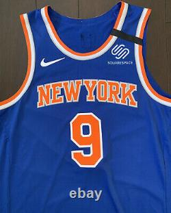 Authentique Nike Rj Barrett New York Knicks Player Game Worn Issued Nba Jersey