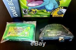 Authentique Pokemon Feuille Adaptateur Vert Complet 6 Insérer Cib Boîte Nm Mint Gba Sauve