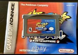 Authentique Pokemon Gameboy Lot Rouge Bleu Jaune Argent Saphir Pinball Cib / Etc