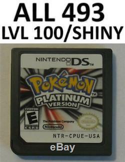 Authentique Pokemon Platinum Jeu Débloqué Nintendo Ds Lite Dsi XL 2ds 3ds Tous 493