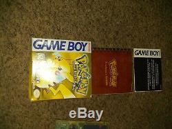 Authentique Pokemon Version Jaune Complète Dans L'encadré Nintendo Gameboy Poche Claire