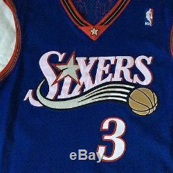 Authentique Porté Allen Iverson Philadelphie 76ers 1999-2000 Jersey