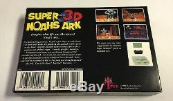 Authentique Super Arche De Noé 3d Nintendo Snes Cib Complete + Sac + Mousse De Polystyrène