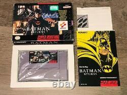 Batman Retourne Super Nintendo Snes Complet Cib Authentic Bon État