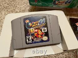 Bomberman 64 Deuxième Attaque! (nintendo 64 N64) Manuel Et Panier En Box Authentique