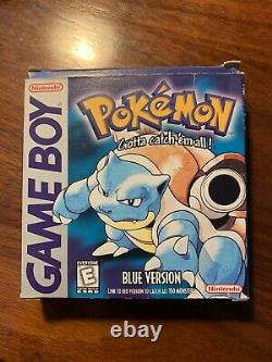 Box Only Pokemon Blue Version No Game (nintendo Game Boy) Original Authentic