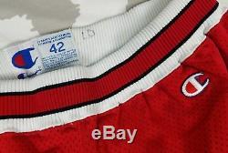 Chicago Bulls Champion Shorts De Basket-ball Authentiques 90 Vintage 42 Jeu Cut