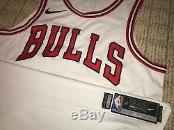Chicago Bulls Nba Nike Authentique Jeu D'équipe Worn Jersey Blank Émis Utilisé 46