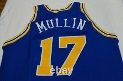 Chris Mullin Guerriers Jeu Jersey Logo Or 92-93 Champion Émis Authentique