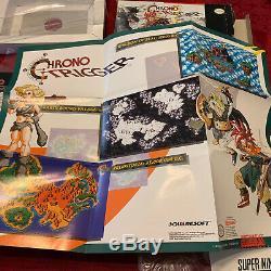 Chrono Trigger Snes Cib 100% Complete In Box Belle Condition Rare Authentique