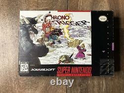 Chrono Trigger Super Nintendo Snes Boîte Authentique + Plateau Seulement