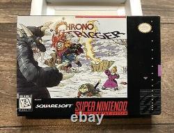 Chrono Trigger Super Nintendo Snes Boîte Et Plateau Authentiques Seulement