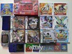 Collection Pokemon! Authentique Comprennent Tous Les Manuels! Pokemon 3ds Ds Jeux Gameboy