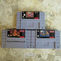 Combat Final Trilogy 1 2 3 II III Super Nintendo Snes USA Authentique Capcom Rare