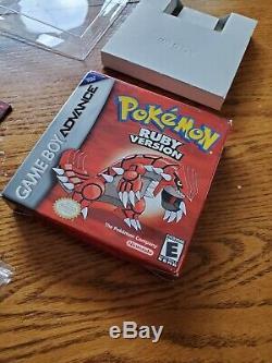 Complète Pokemon Gba Ruby Avec La Boîte / Manuelle, Authentique, Bon État Général