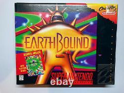 Complète Sur Terre En Big Box Cib Authentic Super Nintendo Snes Earth Bound