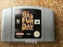 Conker's Bad Fur Day N64 Authentic European Version Pal Près De Mint Look