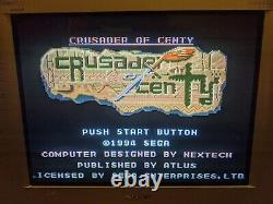 Crusader De Centy (sega Genesis, 1994) Veuillez Lire La Description Authentique