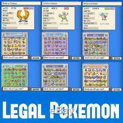 Déverrouillé Authentique Soulsilver Tous 493 Legit Legal Pokemon Nintendo Ds 3ds 2ds