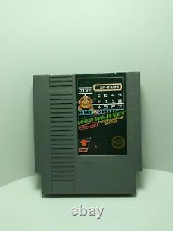 Donkey Kong Jr. Math (5 Vis) Nintendo Nes Authentic Cart Only Dk Junior