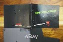 Donkey Kong Jr. Math Manuel Nes Nintendo 5 Vis Black Label Authentique, Près Mint