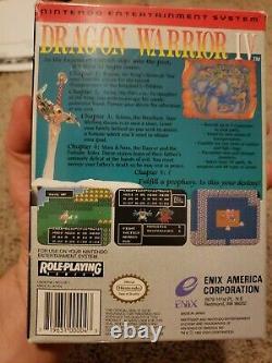 Dragon Warrior 4 (iv) Enix Nintendo Nes Authentic Complete 4, Pas De Réserve