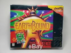Earthbound Snes Box & Manuel Boîte Et Le Manuel Authentique Uniquement (pas De Jeu)