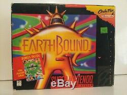 Earthbound Snes Originale Big Box-box Uniquement Pas De Cartouche Ou Manuel Authentique Rare
