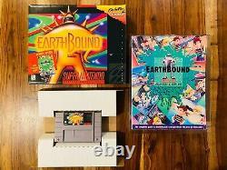 Earthbound Super Nintendo Snes Box Manual Complete Cib 100% Authentique A1