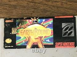 Earthbound (super Nintendo Snes 1992) Authentique, Testé, Travaillant