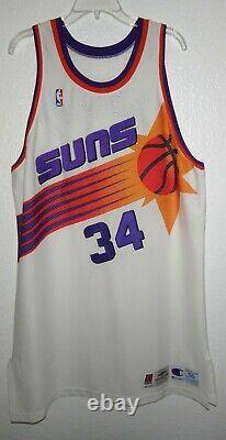 Euc Authentic Champion 95/96 Phoenix Suns Charles Barkley Basketball Game Jersey