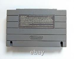 Evo Recherche Pour Eden Rare Snes Super Nintendo Jeu Authentic Cart & Board