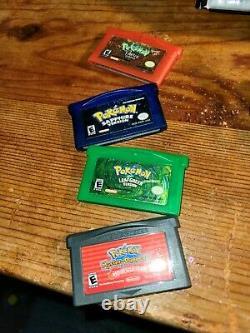 Gameboy Advance Sp Bundle Avec 4 Jeux Pokémon Authentiques