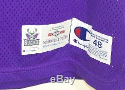 Glenn Robinson Milwaukee Bucks Cut Pro Jeu Champion Worn Jersey Authentique 48 + 4