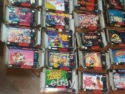 Grande Boîte Super Nintendo Snes Lot Seulement Des Boîtes. Tous Authentiques