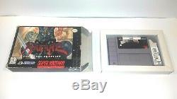 Hagane Mega Rare Super Nintendo Box Authentique + Panier Snes Vintage Jeu Teste