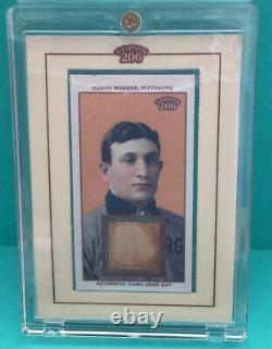 Honus Wagner 2002 Topps 206 Authentic Game Used Bat Card Tr-hw