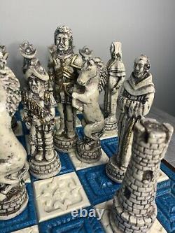 Jeu D'échecs Mexicain Authentique Set Aztèques Indiens Espagnols Conquistadors Sculptés