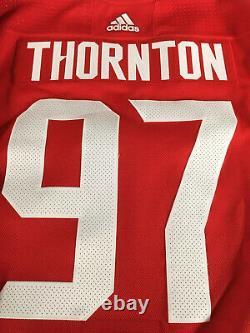 Joe Thornton Jeu Authentique Utilisé Jersey Coupe Du Monde De Hockey 2016 Équipe Canada