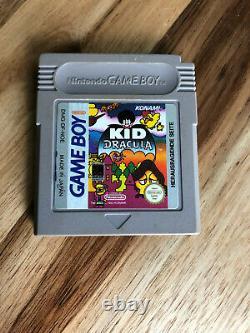 Kid Dracula Nintendo Jeu Garçon 1993 Authentique Pal Français Panier Seulement Région Gratuit