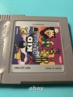 Kid Dracula (nintendo Game Boy) - Panier De Jeu Authentique - Gameboy Holy Graal