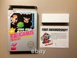Kid Icarus (nintendo Nes System, 1987) Box Only Authentic Adventure Series