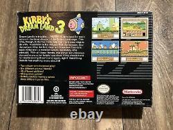 Kirbys Dreamland 3 Super Nintendo Snes Authentic Box + Plateau Seulement Rare Htf