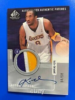 Kobe Bryant 2004 Jeu Sp Utilisé Authentic 3 Color Jersey Patch Auto Autograph /50