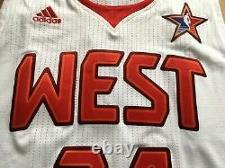 Kobe Bryant 2009 Nba All Star Game Pro Coupé Maillot Adidas La Lakers Authentique 24
