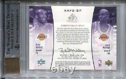 Kobe Bryant Bgs 9 2004-05 Ud Sp Jeu Utilisé Tissus Authentiques Jersey Auto /50 4782