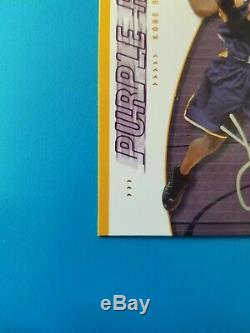 Kobe Bryant Signée À La Main Jersey Auto Ud Authentique Édition Purple Reign W Coa