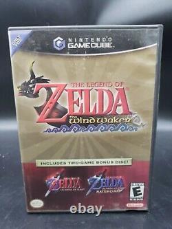 La Légende De Zelda Windwaker Avec Ocarina Du Temps (gamecube, 2003) Authentic