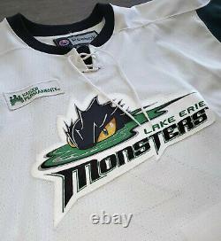 Lac Erie Monsters Cleveland Authentique Porté Dans Un Match Thème St. Patricks Jersey Ahl