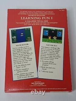 Learning Fun I Intellivision With Box And Manual Authentic Rare Htf
